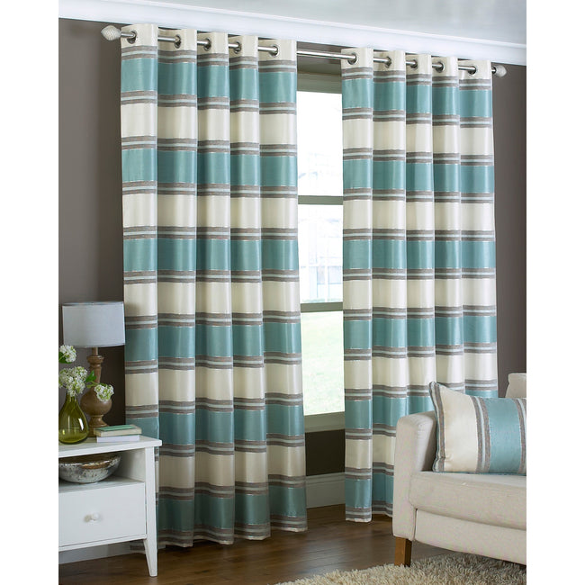 Duck Egg - Front - Riva Home Horizon Ringtop Curtains
