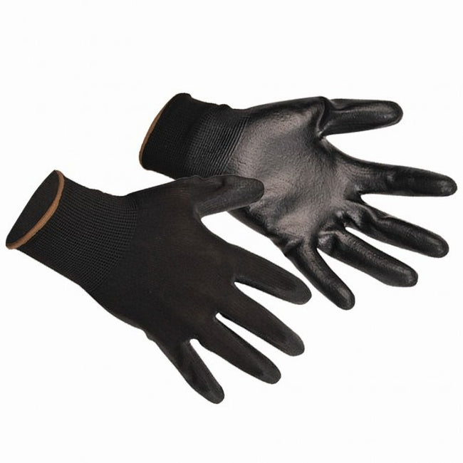 Black - Back - Portwest PU Palm Coated Gloves (A120) - Workwear