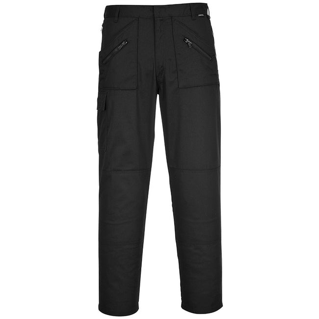 Black - Back - Portwest Mens Action Workwear Trousers (S887) - Pants