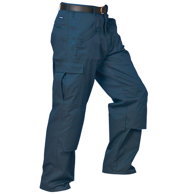 Navy - Front - Portwest Mens Action Workwear Trousers (S887) - Pants
