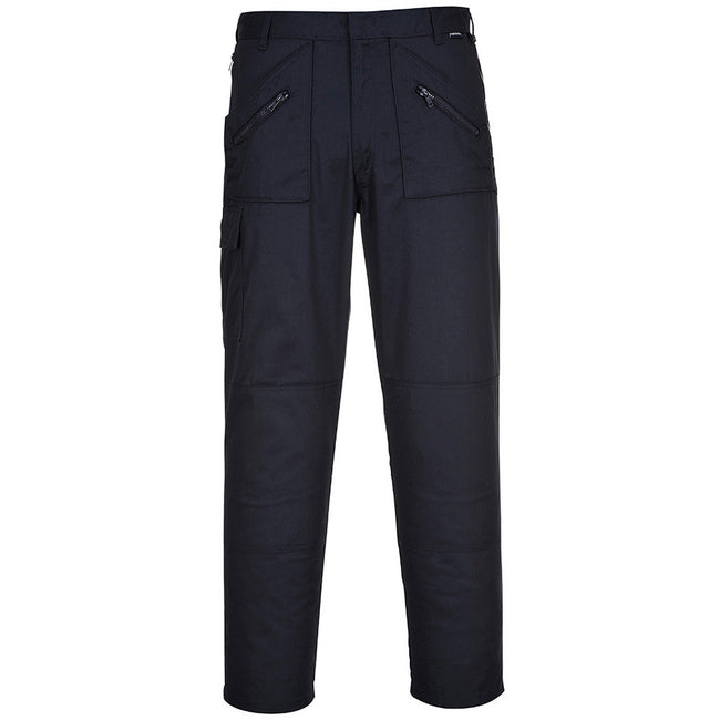 Navy - Back - Portwest Mens Action Workwear Trousers (S887) - Pants