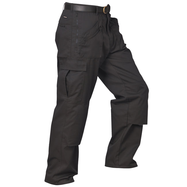 Black - Front - Portwest Mens Action Workwear Trousers (S887) - Pants