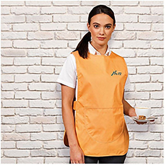 Orange - Back - Premier Ladies-Womens Pocket Tabard-Workwear