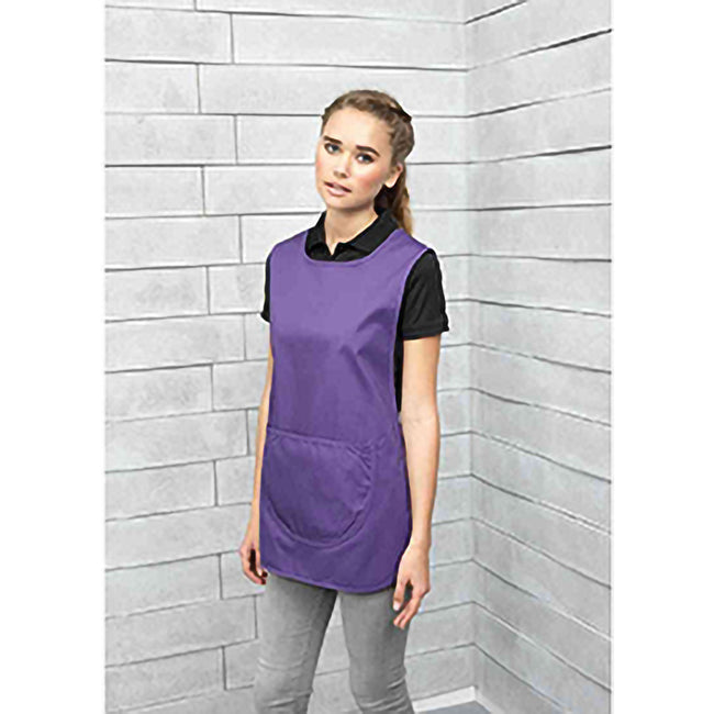 Purple - Back - Premier Ladies-Womens Pocket Tabard-Workwear