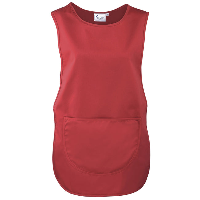 Red - Front - Premier Ladies-Womens Pocket Tabard-Workwear
