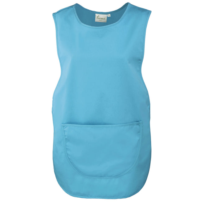 Turquoise - Front - Premier Ladies-Womens Pocket Tabard-Workwear