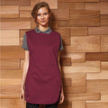 Burgundy - Back - Premier Ladies-Womens Pocket Tabard-Workwear