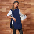 Navy - Back - Premier Ladies-Womens Long Length Pocket Tabard-Workwear