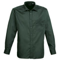 Bottle - Front - Premier Mens Long Sleeve Formal Plain Work Poplin Shirt