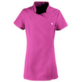 Hot Pink - Front - Premier Ladies-Womens *Blossom* Tunic-Health Beauty & Spa-Workwear
