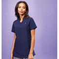 Navy - Close up - Premier Ladies-Womens *Blossom* Tunic-Health Beauty & Spa-Workwear