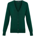 Bottle - Front - Premier Womens-Ladies Button Through Long Sleeve V-neck Knitted Cardigan