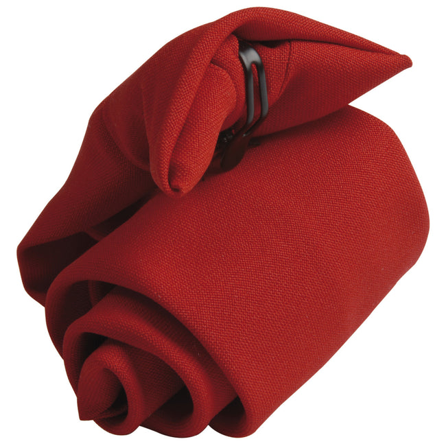 Red - Front - Premier Tie - Mens Plain Workwear Clip On Tie