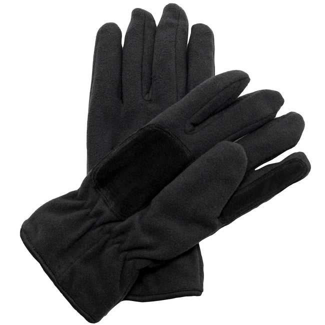 Black - Front - Regatta Unisex Thinsulate™ Thermal Fleece Winter Gloves