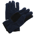Navy - Front - Regatta Unisex Thinsulate™ Thermal Fleece Winter Gloves