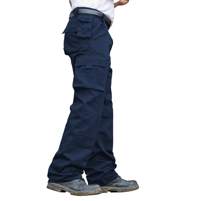 Navy - Back - RTY Workwear Mens Premium Work Trousers - Pants