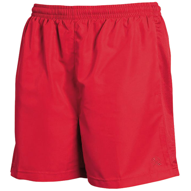 Red - Front - Tombo Teamsport Mens Lined Performance Sports Shorts