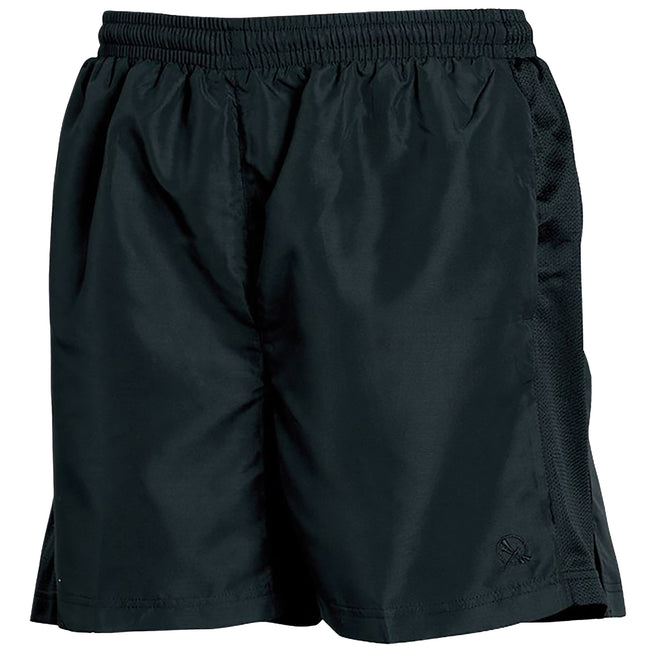 Black - Front - Tombo Teamsport Mens Lined Performance Sports Shorts