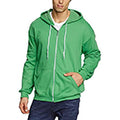 Charcoal - Front - Anvil Mens Full Zip Hooded Sweat - Hoodie