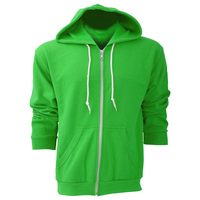 Black - Front - Anvil Mens Full Zip Hooded Sweat - Hoodie