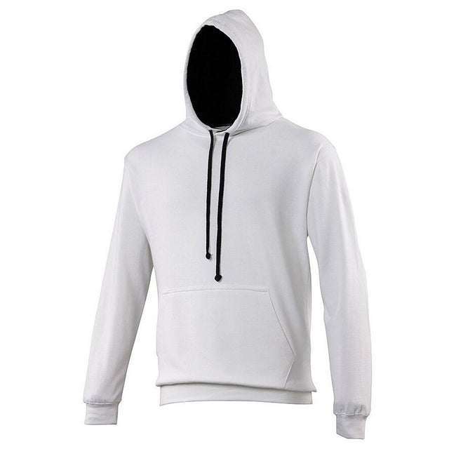 Arctic White - French Navy - Front - Awdis Varsity Hooded Sweatshirt - Hoodie