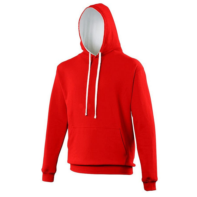 Charcoal- Orange Crush - Back - Awdis Varsity Hooded Sweatshirt - Hoodie