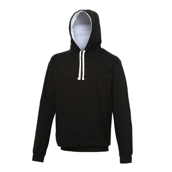 Heather Gray- Sapphire Blue - Front - Awdis Varsity Hooded Sweatshirt - Hoodie