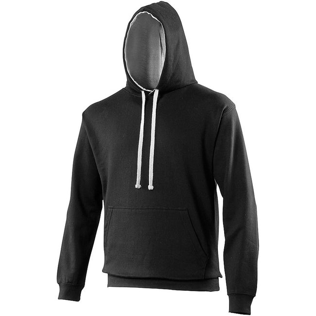 Kelly Green - Arctic White - Side - Awdis Varsity Hooded Sweatshirt - Hoodie