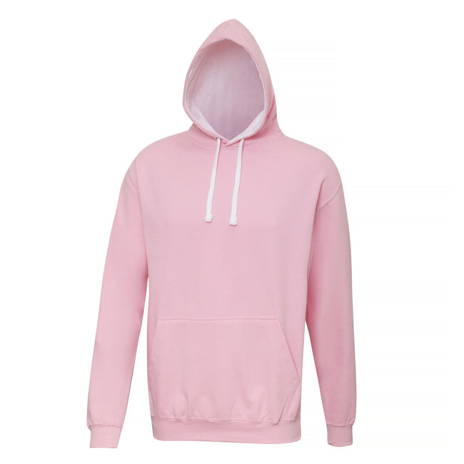 Oxford Navy- Sun Yellow - Back - Awdis Varsity Hooded Sweatshirt - Hoodie