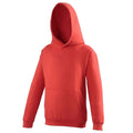 Fire Red - Front - Awdis Kids Unisex Hooded Sweatshirt - Hoodie - Schoolwear