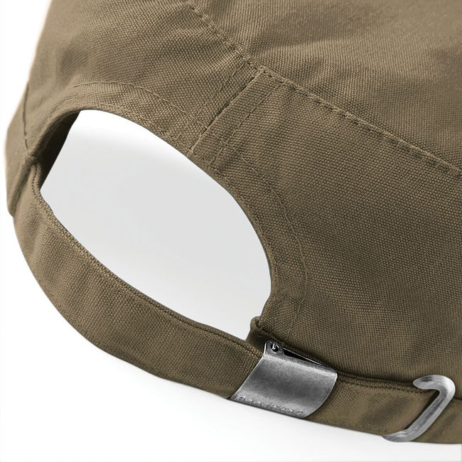 Khaki - Side - Beechfield Army Cap - Headwear