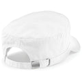 White - Back - Beechfield Army Cap - Headwear