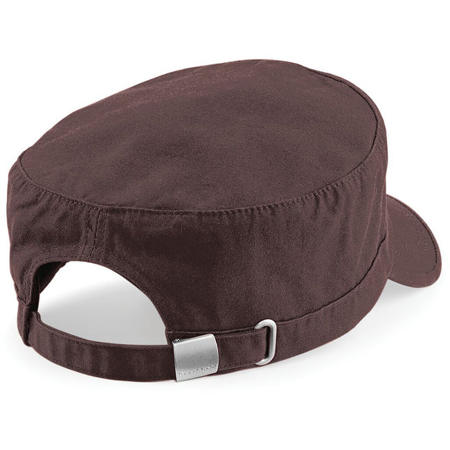 Chocolate - Back - Beechfield Army Cap - Headwear