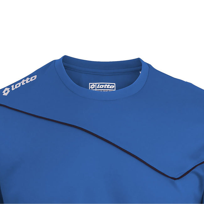 Royal - Back - Lotto Big Boys Football Sports Kit Long Sleeve Sigma (Full Kit Shirt & Shorts)
