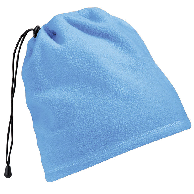 Sky Blue - Front - Beechfield Unisex Suprafleece™ Anti-Pilling 2in1 Winter Hat and Neck Warmer-Snood
