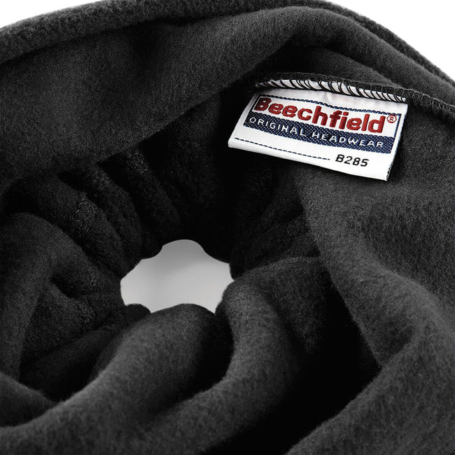 Black - Lifestyle - Beechfield Unisex Suprafleece™ Anti-Pilling 2in1 Winter Hat and Neck Warmer-Snood
