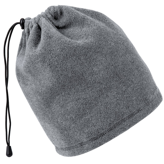 Charcoal - Front - Beechfield Unisex Suprafleece™ Anti-Pilling 2in1 Winter Hat and Neck Warmer-Snood