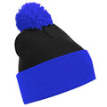 Black - Bright Royal - Front - Beechfield Big Boys Snowstar Duo Two-Tone Winter Beanie Hat