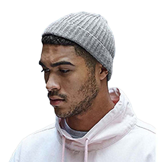 Black - Back - Beechfield® Unisex Retro Trawler Winter Beanie Hat