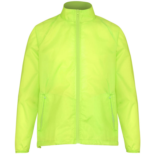 Yellow - Front - 2786 Unisex Lightweight Plain Wind & Shower Resistant Jacket