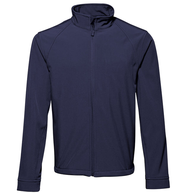 Navy - Front - 2786 Mens 3 Layer Softshell Performance Jacket (Windproof & Water Resistant)