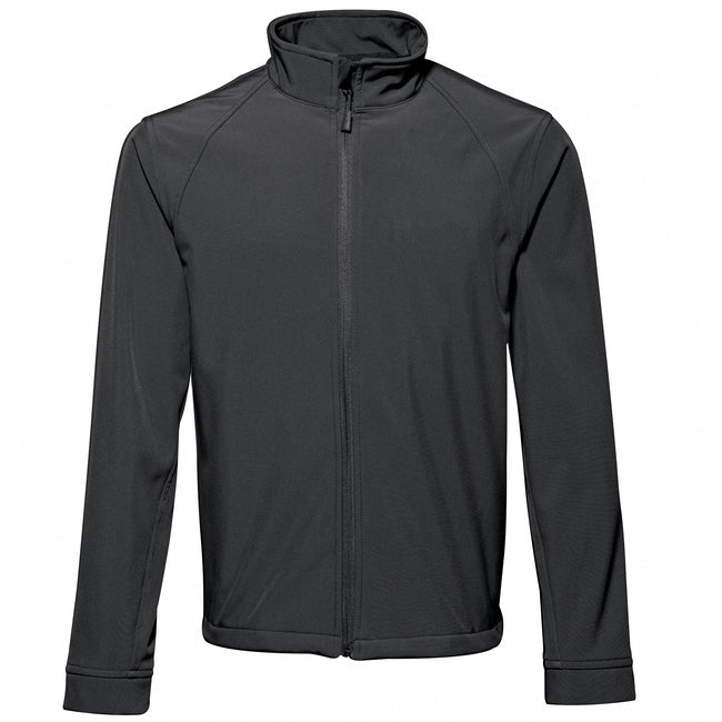 Black - Front - 2786 Mens 3 Layer Softshell Performance Jacket (Windproof & Water Resistant)