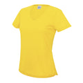 Sun Yellow - Front - AWDis Cool V Neck Girlie Cool Short Sleeve T-Shirt