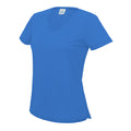 Sapphire Blue - Front - AWDis Cool V Neck Girlie Cool Short Sleeve T-Shirt