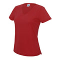 Fire Red - Front - AWDis Cool V Neck Girlie Cool Short Sleeve T-Shirt
