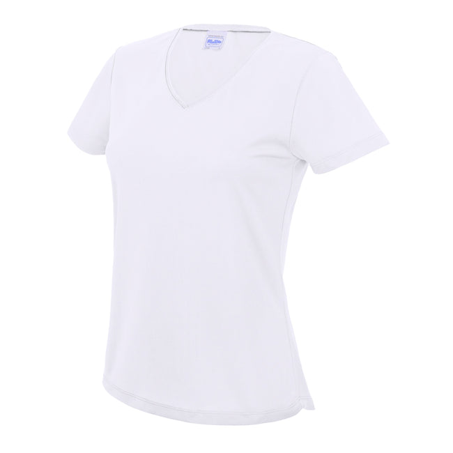 Arctic White - Front - AWDis Cool V Neck Girlie Cool Short Sleeve T-Shirt