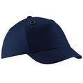 French Navy - Front - Beechfield Coolmax® En812 Bump Baseball Cap - Headwear