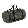 Jungle Camo-Black - Front - BagBase Packaway Barrel Bag-Duffel Water Resistant Travel Bag (32 Liters)