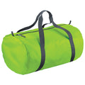 Lime Green - Front - BagBase Packaway Barrel Bag-Duffel Water Resistant Travel Bag (32 Liters)