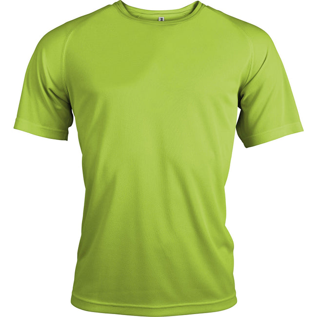 Lime - Front - Kariban Mens Proact Sports - Training T-Shirt